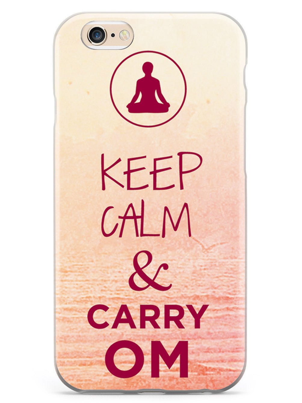 Keep Calm & Carry Om - Yoga Humor Funny Case