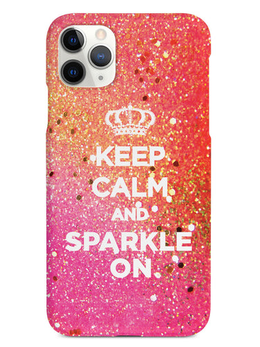 Keep Calm & Sparkle On Bling Case