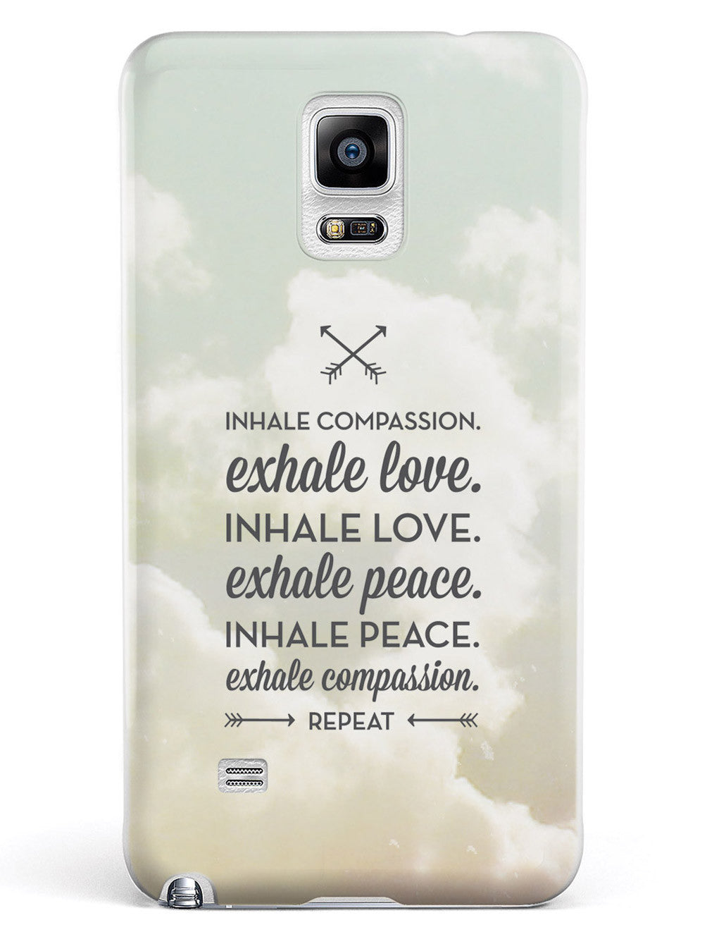 Inhale Compassion, Exhale Love inspirational quote Case