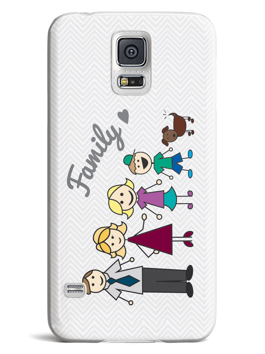 Love My Family - Stick Family Case