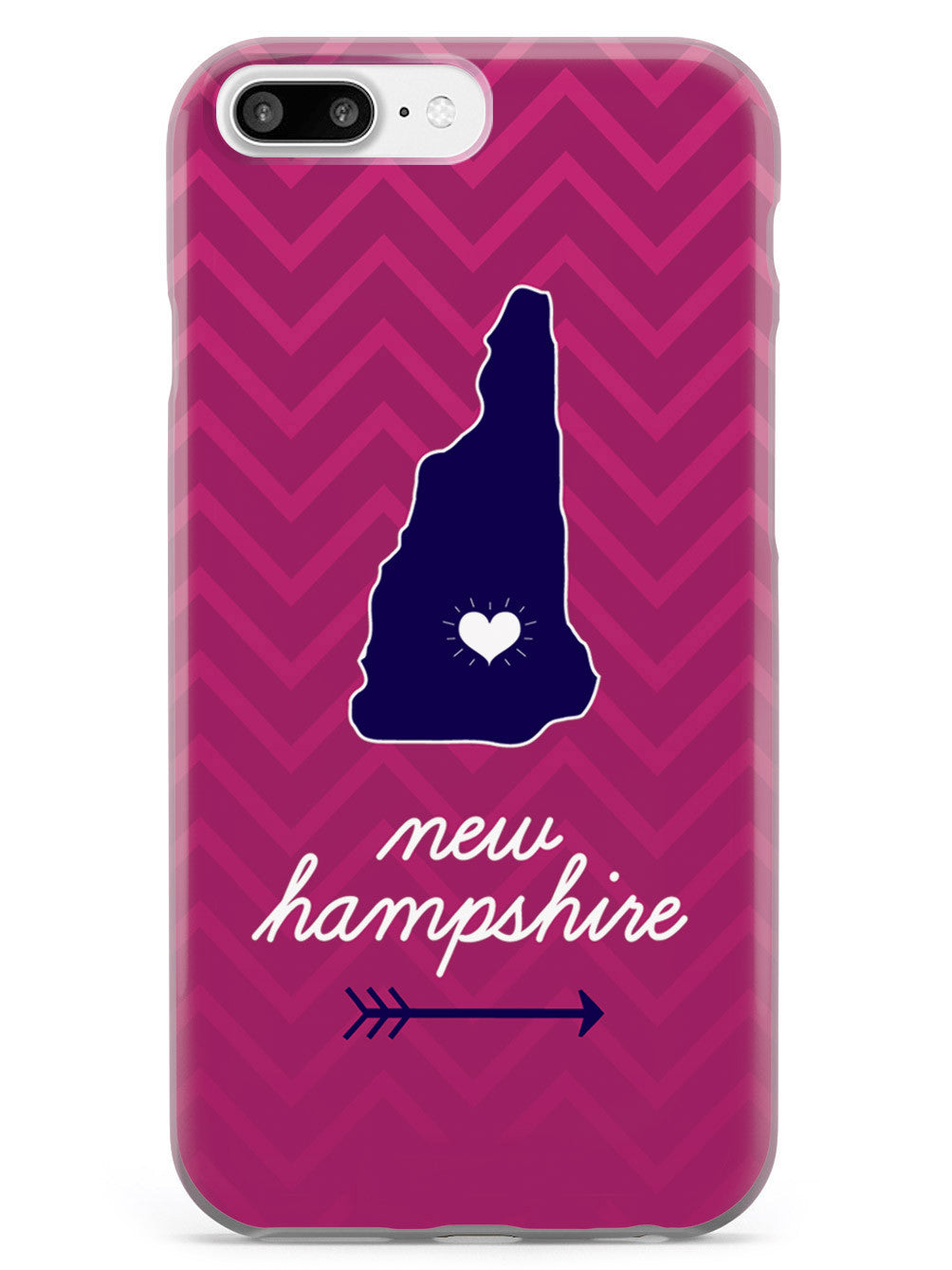 New Hampshire Chevron Pattern State Case
