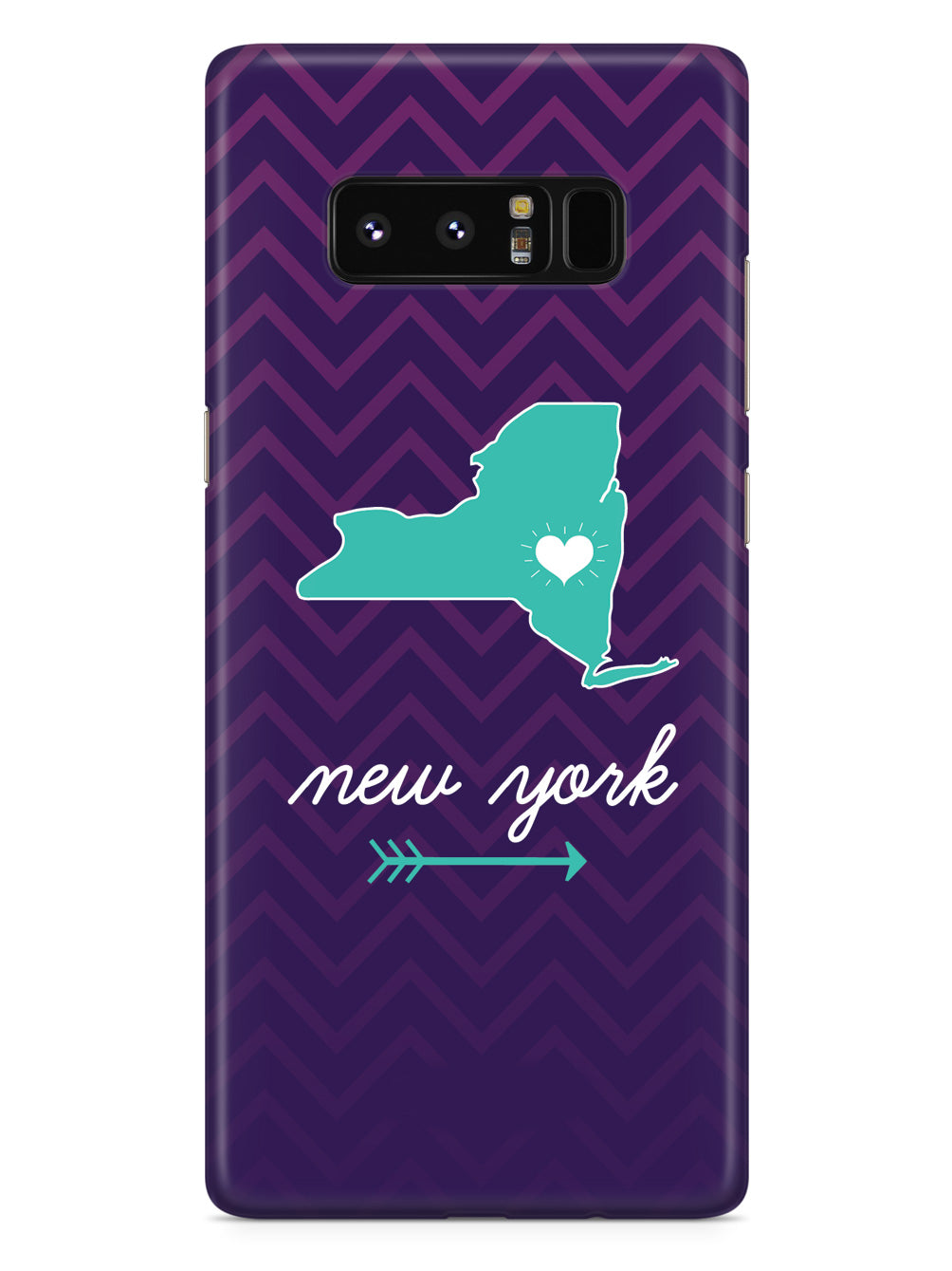 New York Chevron Pattern State Case