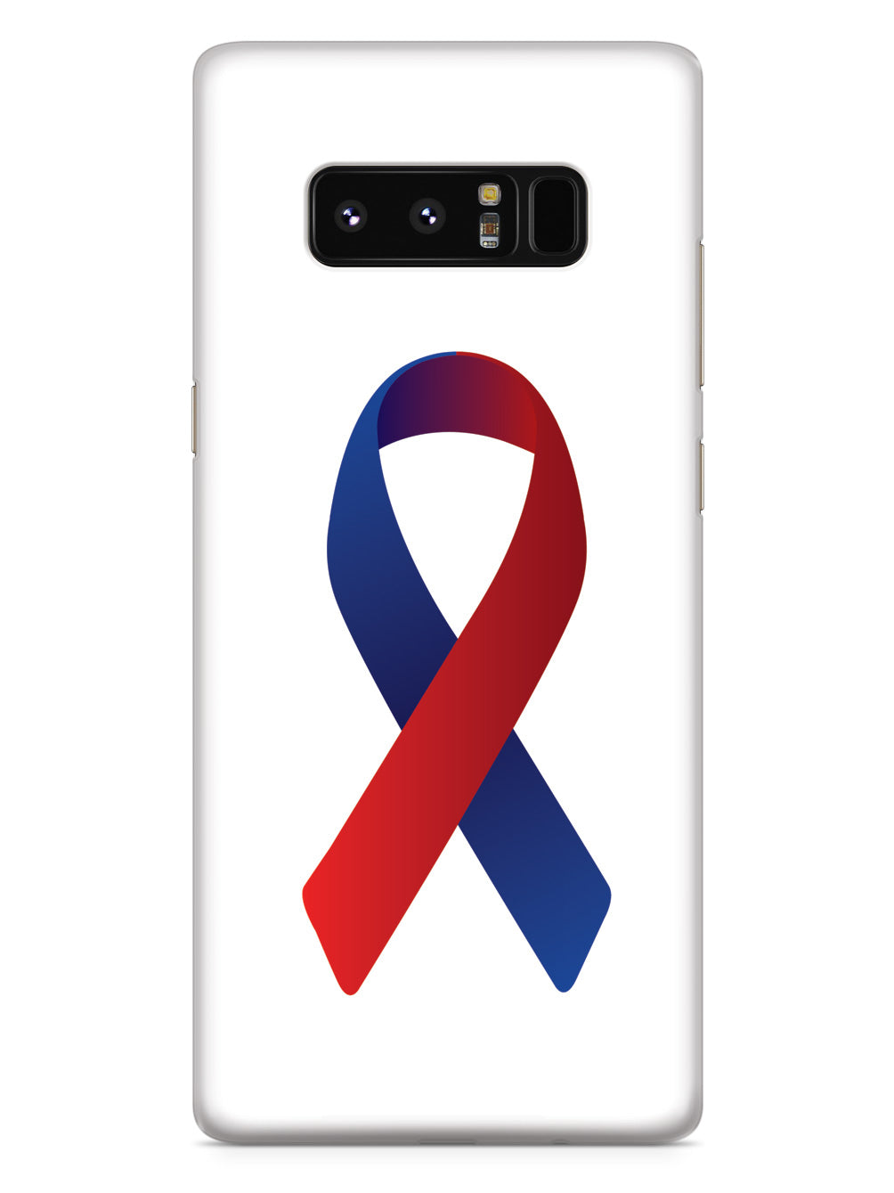Red & Blue Awareness Ribbon Case