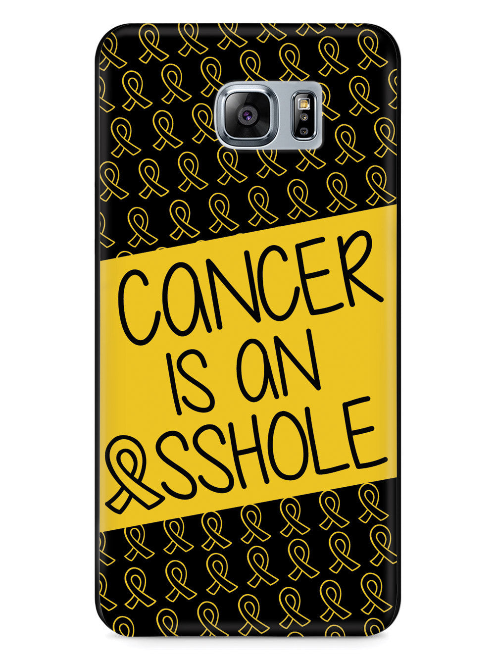 Cancer is an ASSHOLE Yellow Case