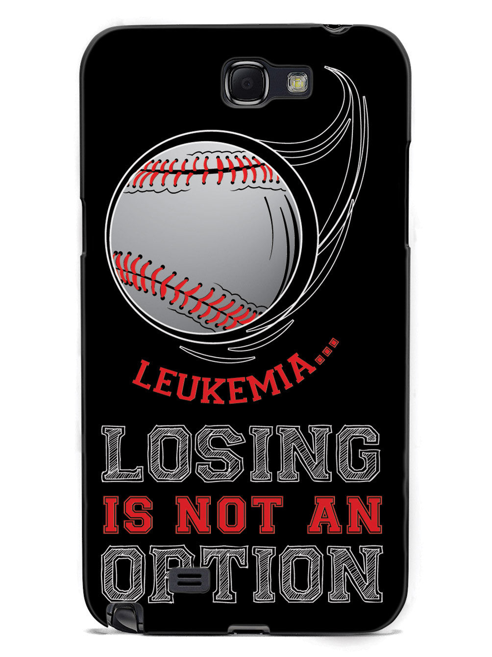 Leukemia - Losing is not an Option Black Baseball Case