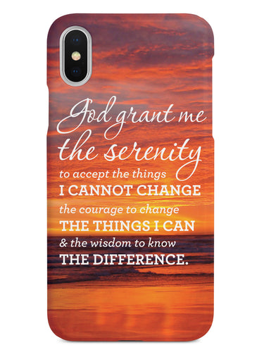 Serenity Prayer Sunset Background Inspirational Quote Case