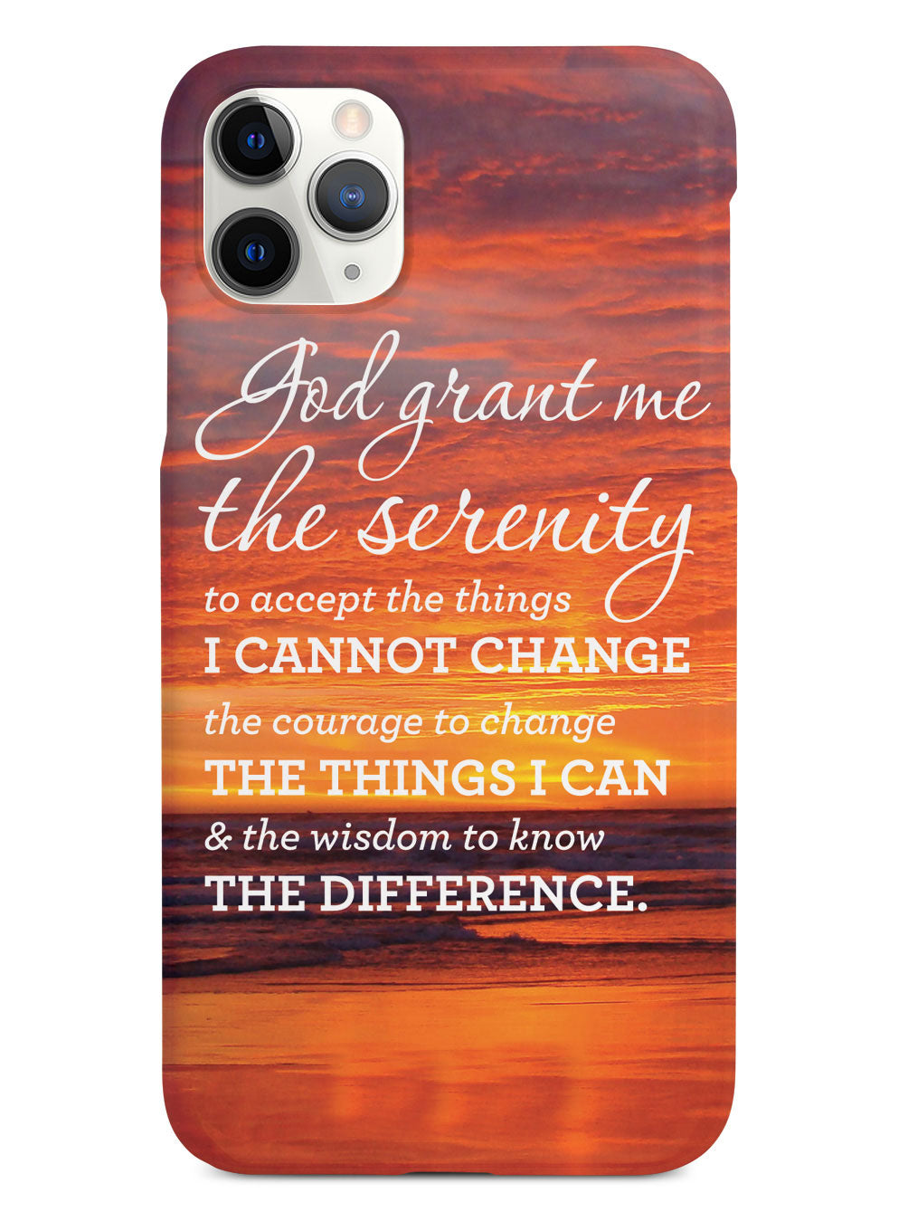 Serenity Prayer Sunset Background Inspirational Quote Case ...