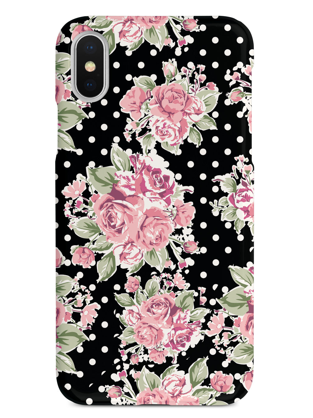 Vintage Polka Dot Flower Pattern Case