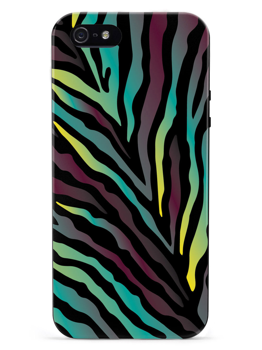 Teal & Purple Zebra Animal Print Pattern Case