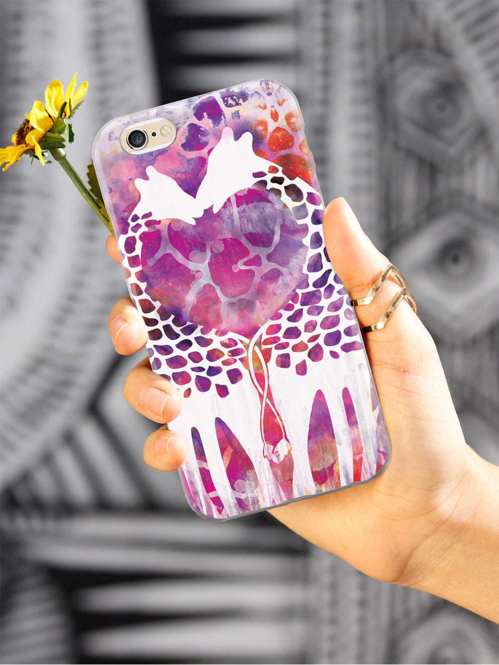 Giraffe Love Watercolor Style Case