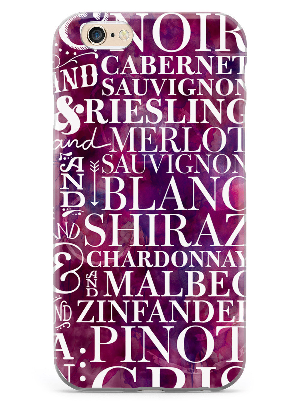 Wine Wine Wine Pattern Case