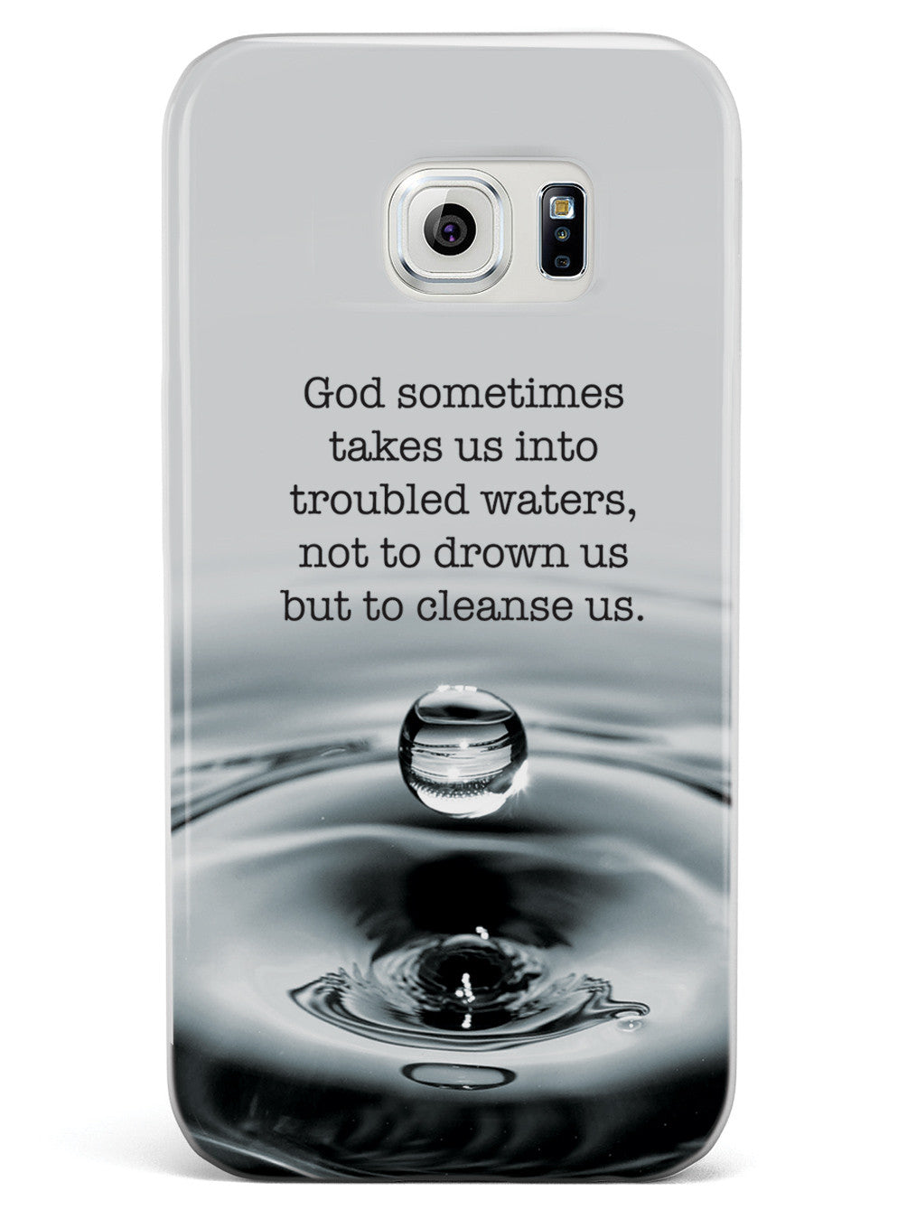 Troubled Waters God Religion Inspirational Quote Case