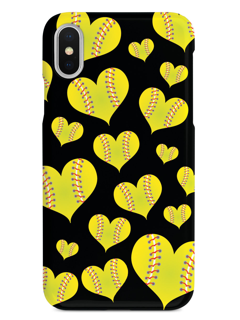 Softball Heart Pattern Case