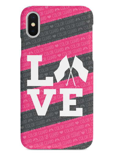 Color Guard Marching Band Flag  Love Case