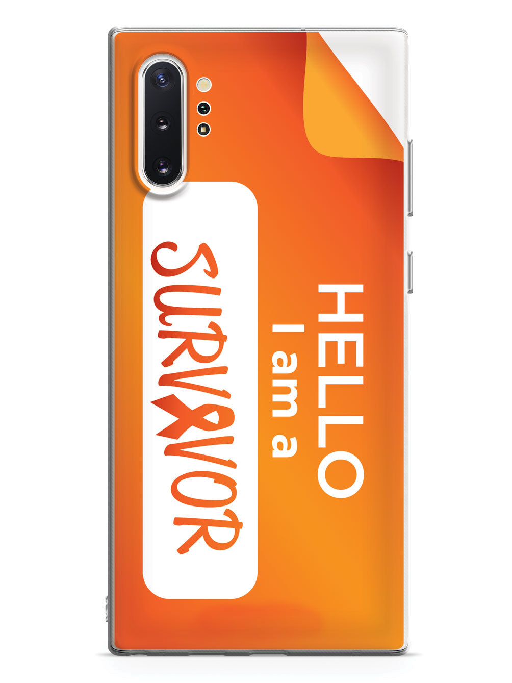 Hello, I am a Survivor  - Orange Case