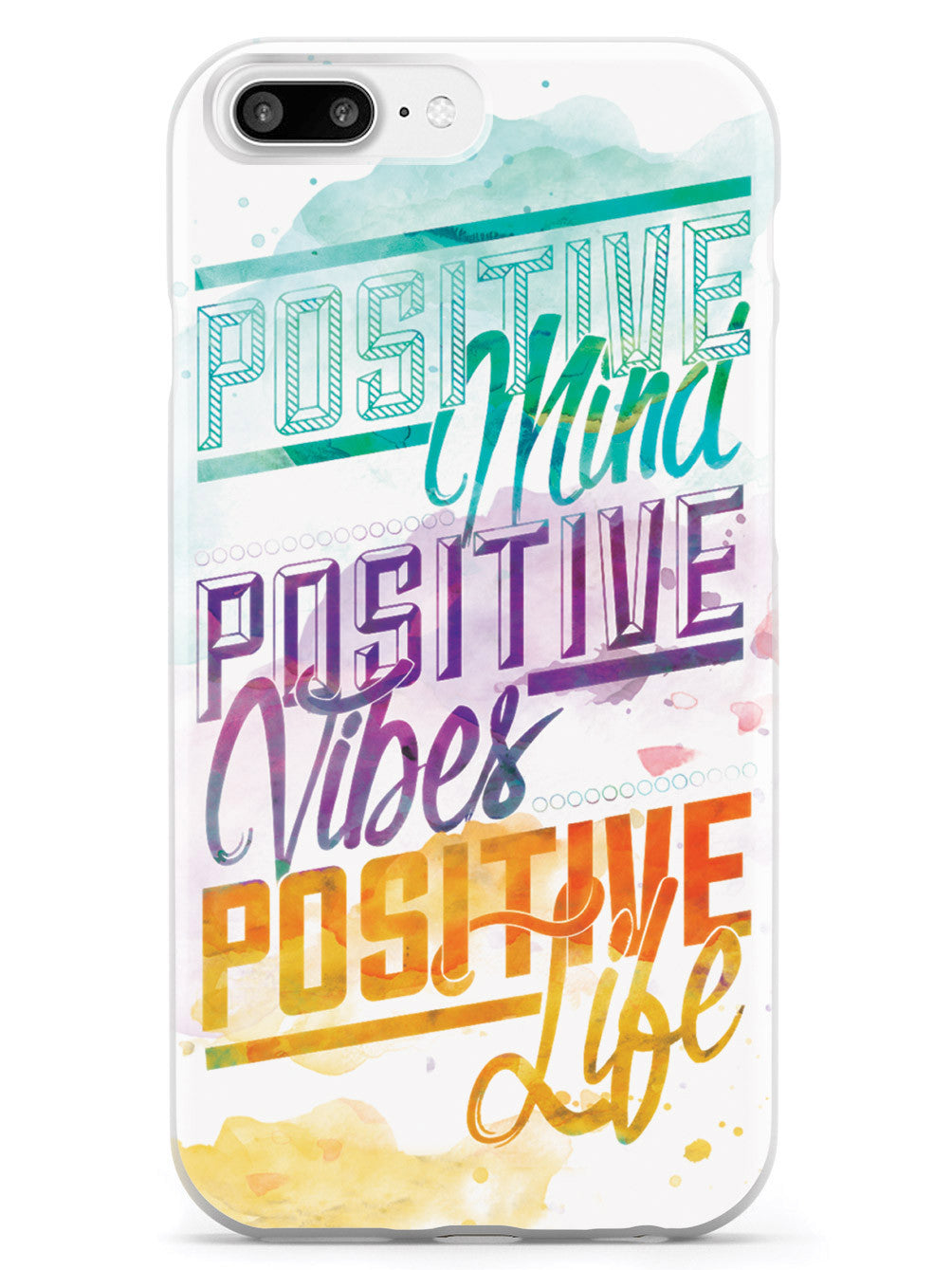 Positive Mind, Positive Vibes, Positive Life - Inspirational Quote Case