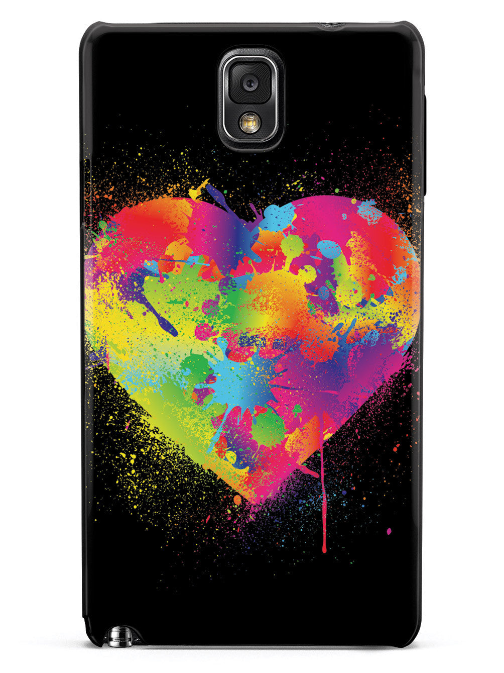 Rainbow Heart Paint Splatter  Case