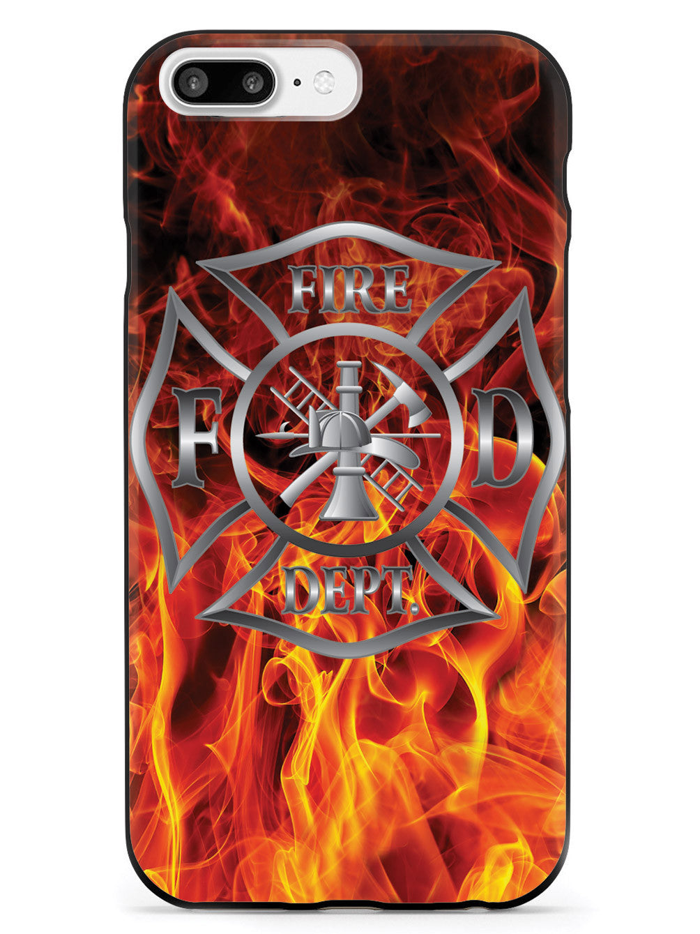 Fire Badge Flame Case For Firemen Fire Department Case