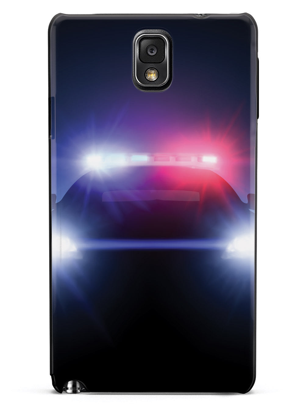 Stealth Police Car - Flashing Blue & Red Lights Case