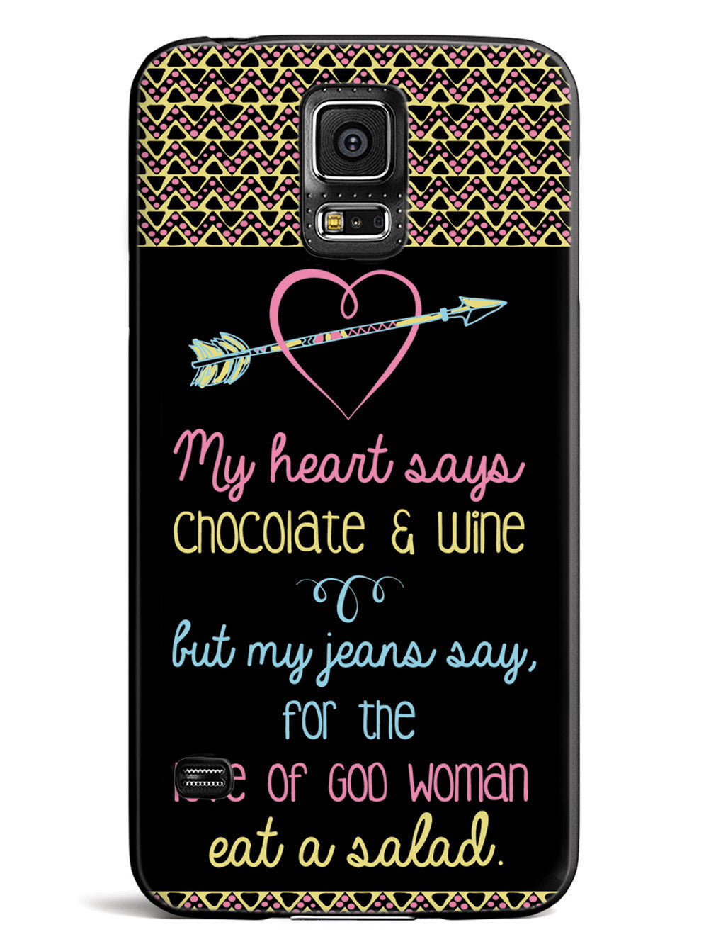 My Heart says Chocolate & Wine Case