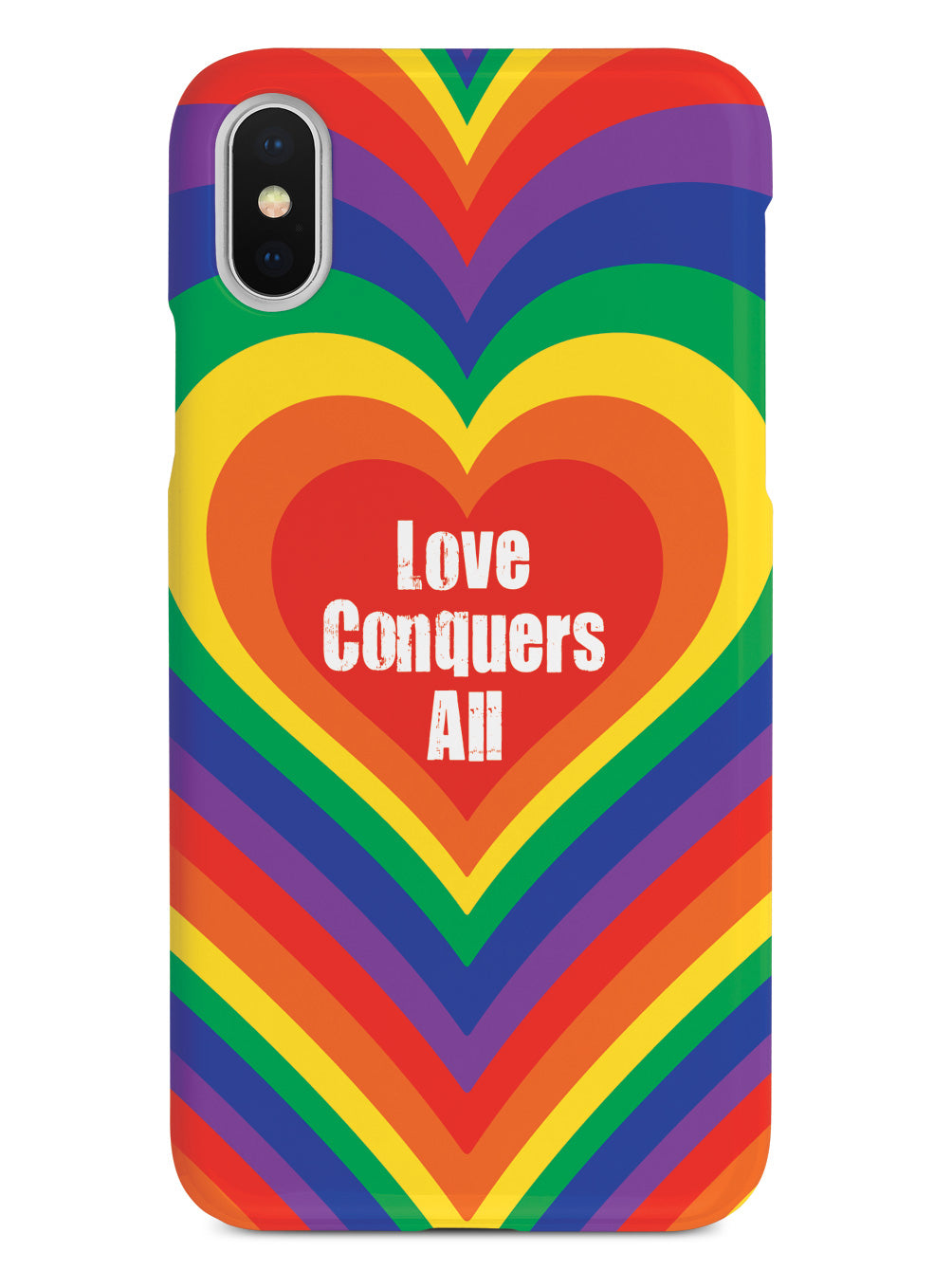 Love Conquers All Inspirational Quote Case