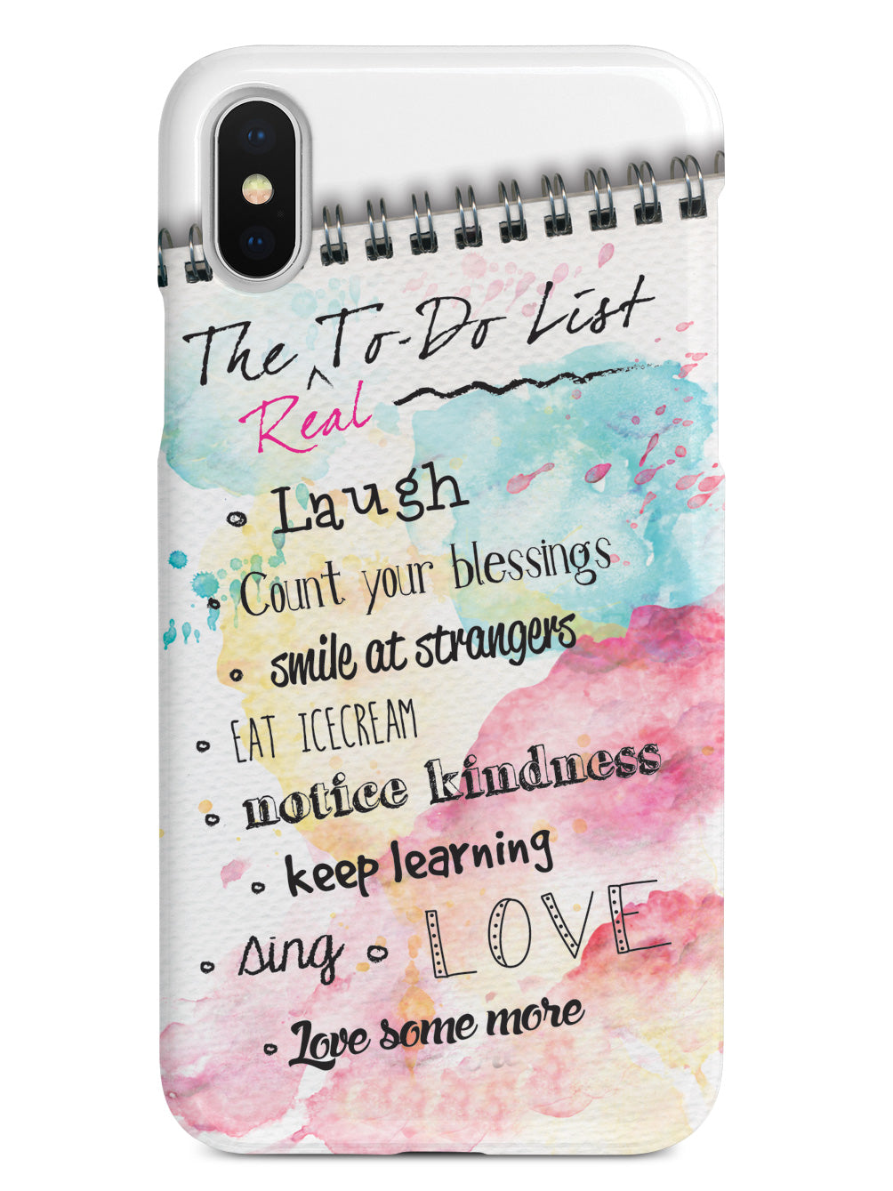 The 'Real' to Do List - Inspirational Quote Case