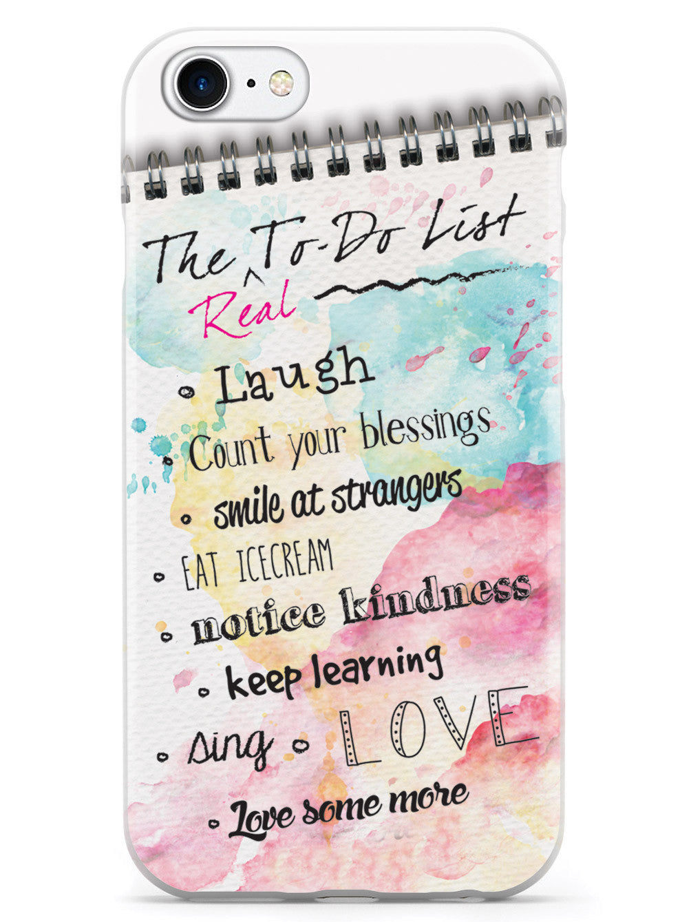 Quote List The 'real' To Do List  Inspirational Quote Case  Inspiredcases