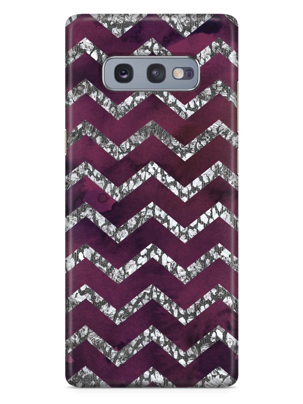 Purple & Silver Chevron Pattern Case