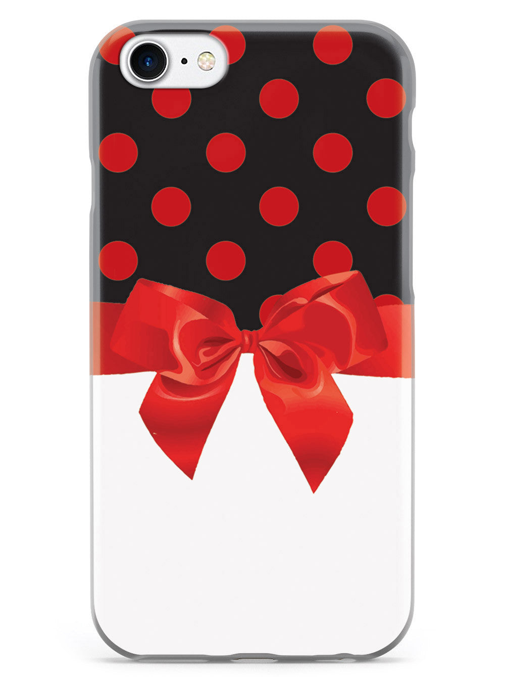 Black & Red Polka Dots Ribbon Case