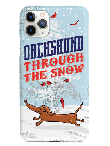 Dachshund Through the Snow Christmas Case