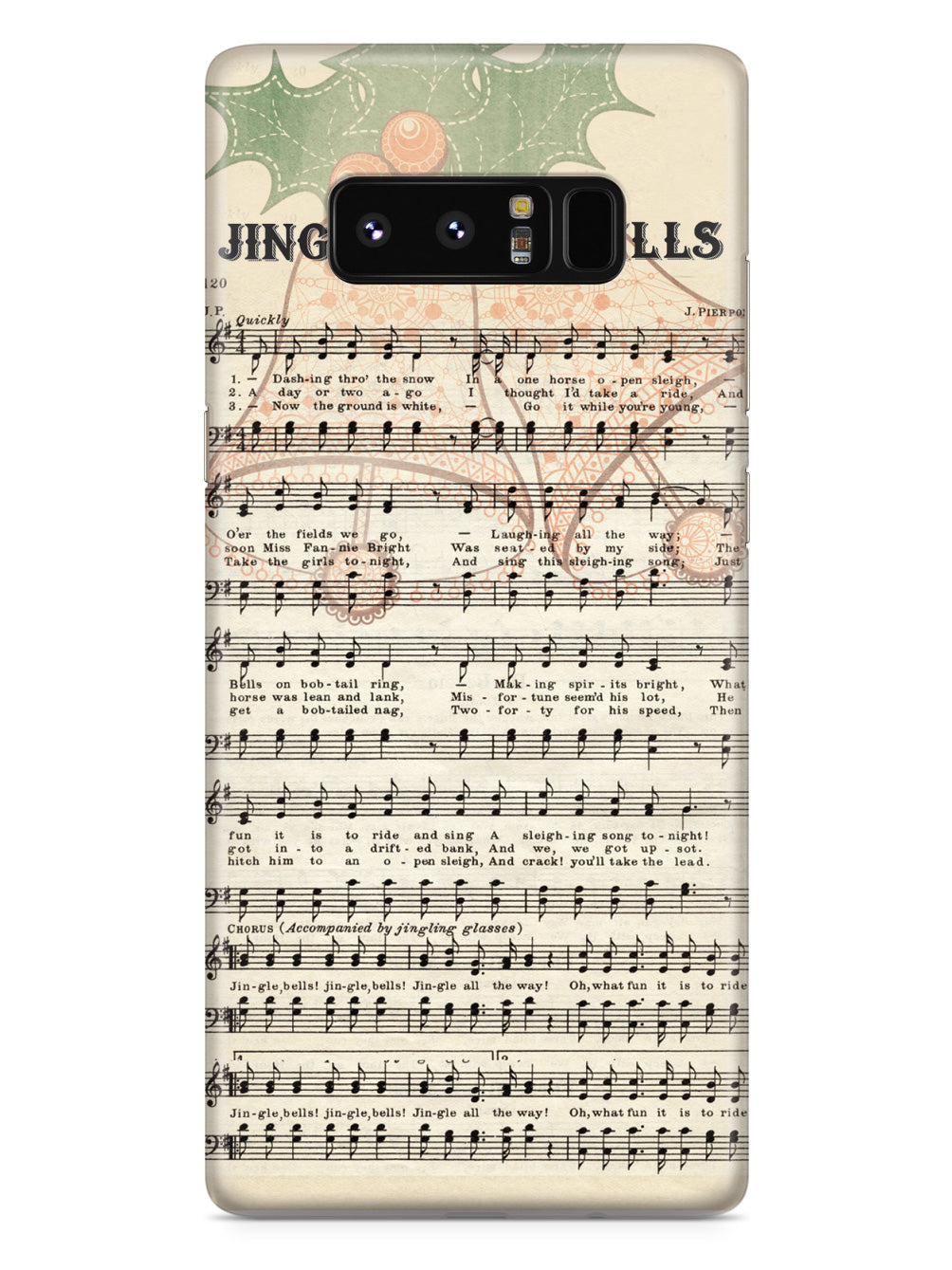 Vintage Jingle Bells Notes Christmas Case