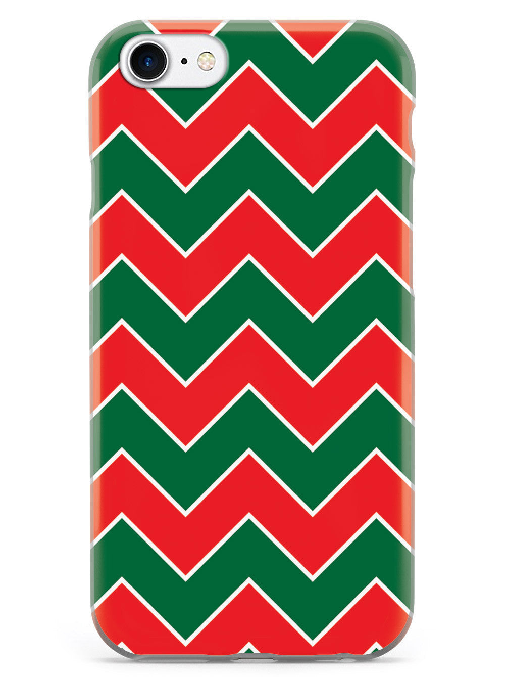 Red & Green Chevron Pattern Christmas Colors Case