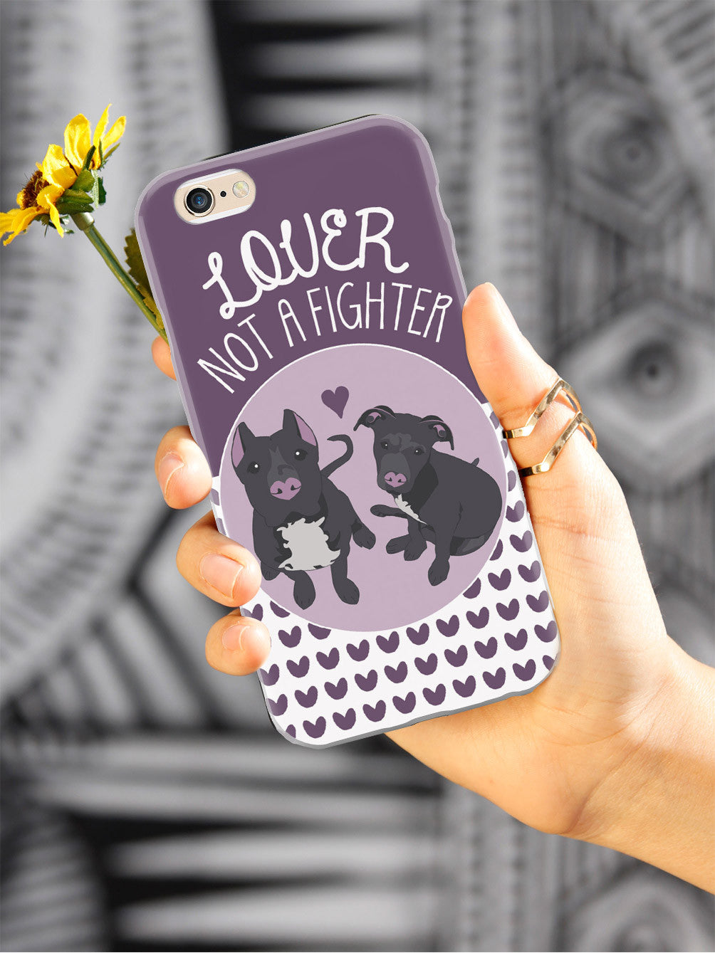 Lover Not A Fighter - Pitbull Dog Case