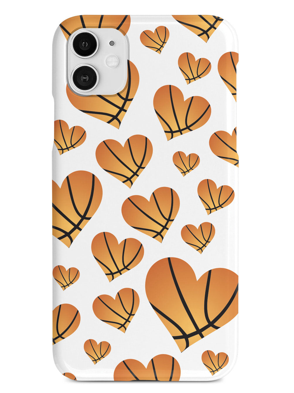 Basketball Heart Pattern Case
