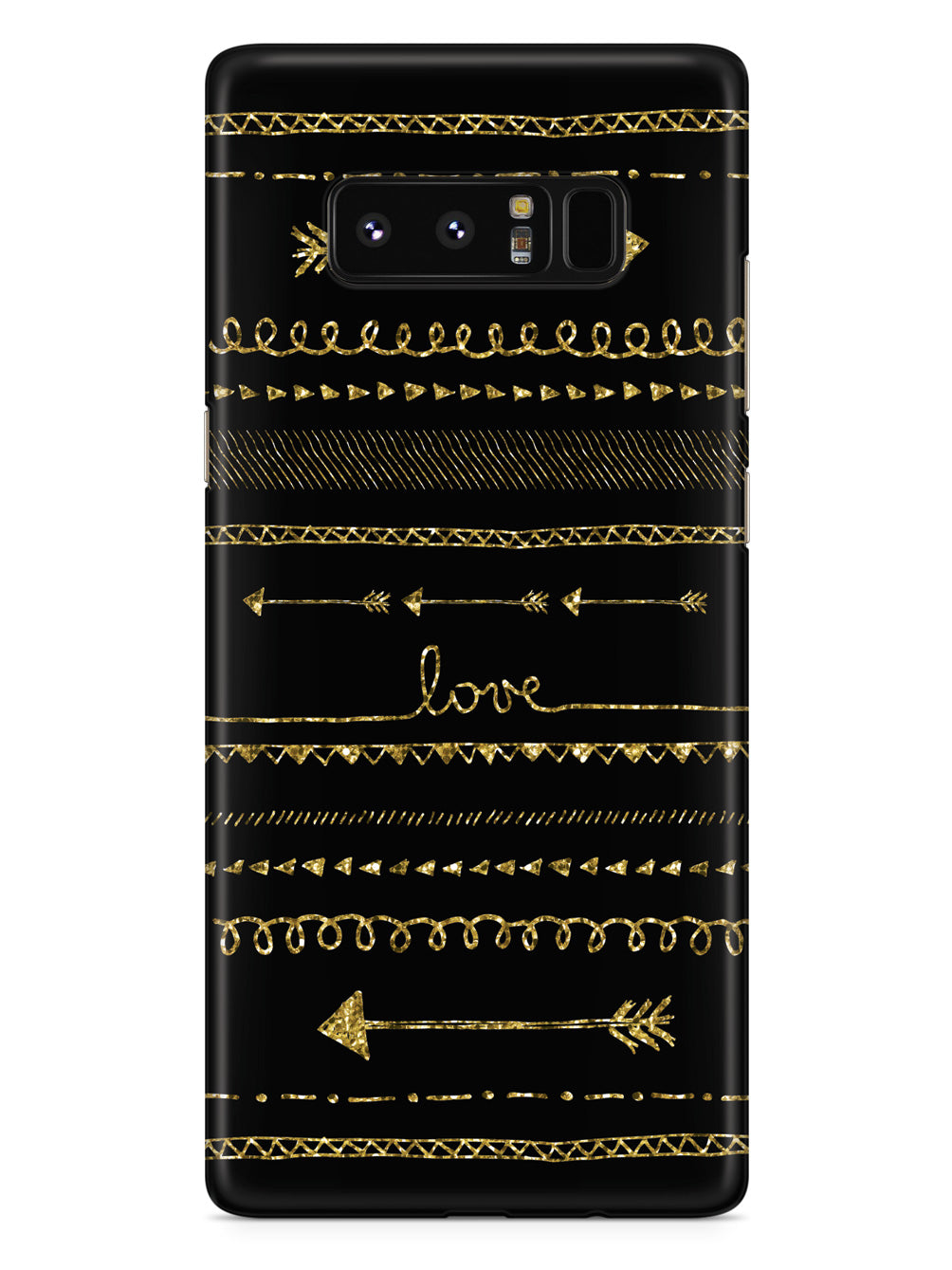 Gold Glitter Hand Drawn Doodle Arrows Case