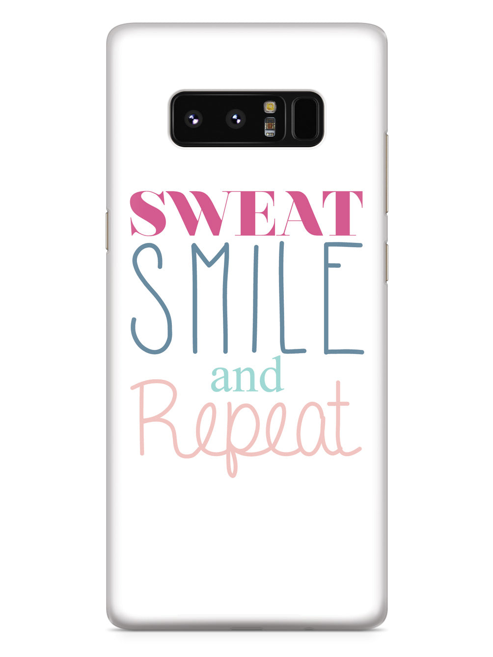 Sweat, Smile, Repeat, Gym Work Out Case