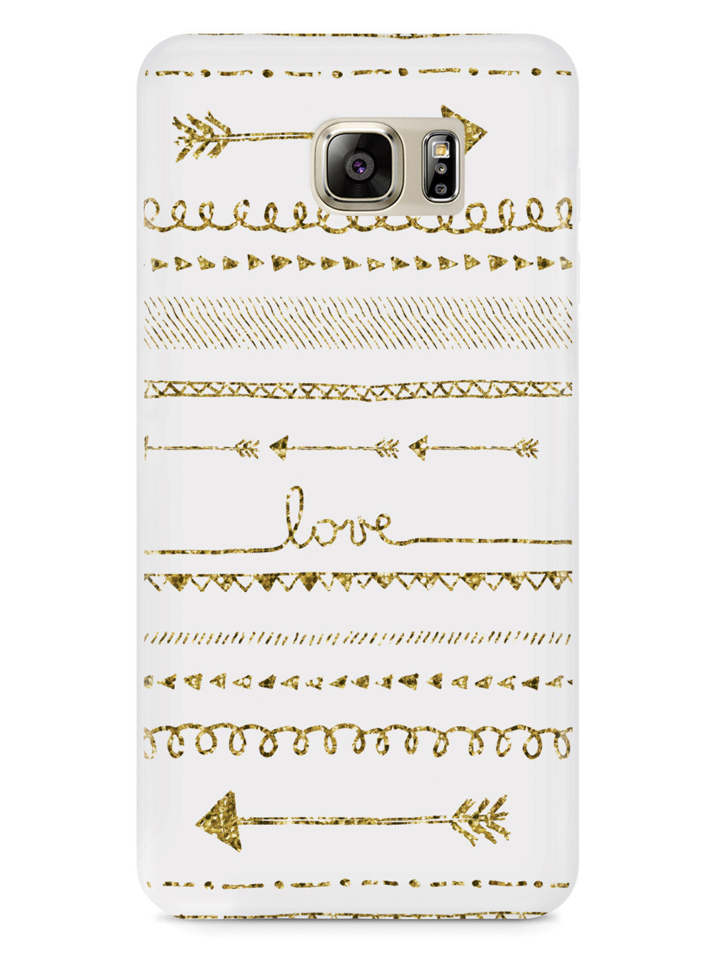 Glitter Doodle Arrows Hand Drawn Case