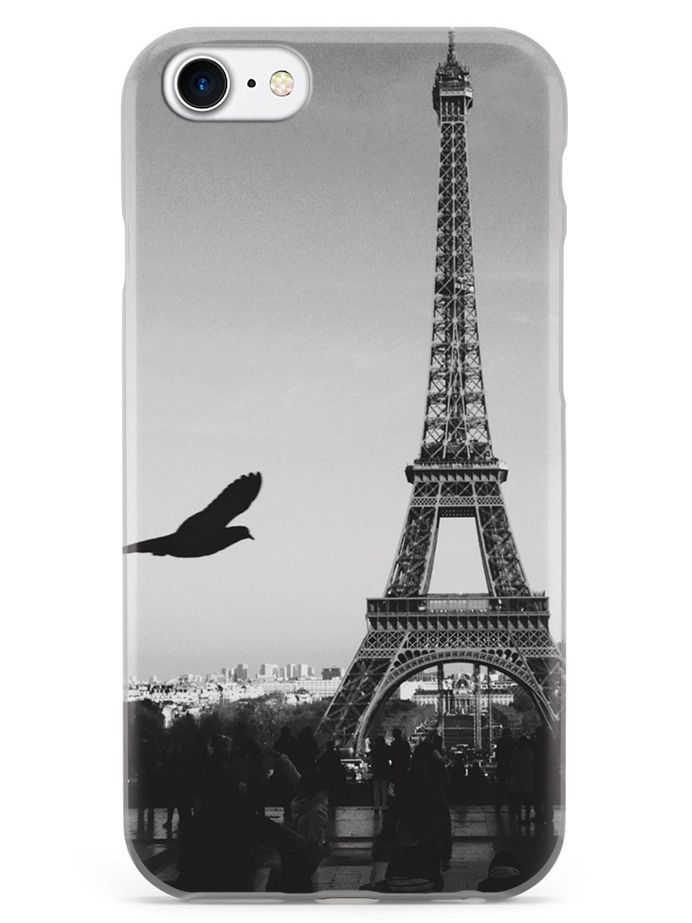 Paris Eiffel Tower Black & White Photo Case