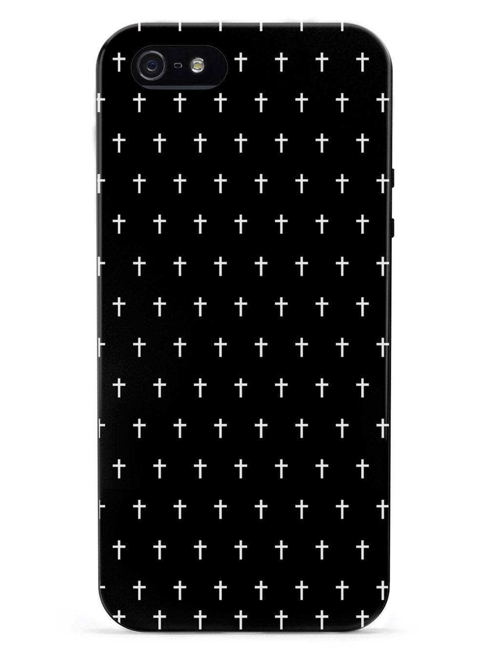 Cross Pattern - Black & White Case
