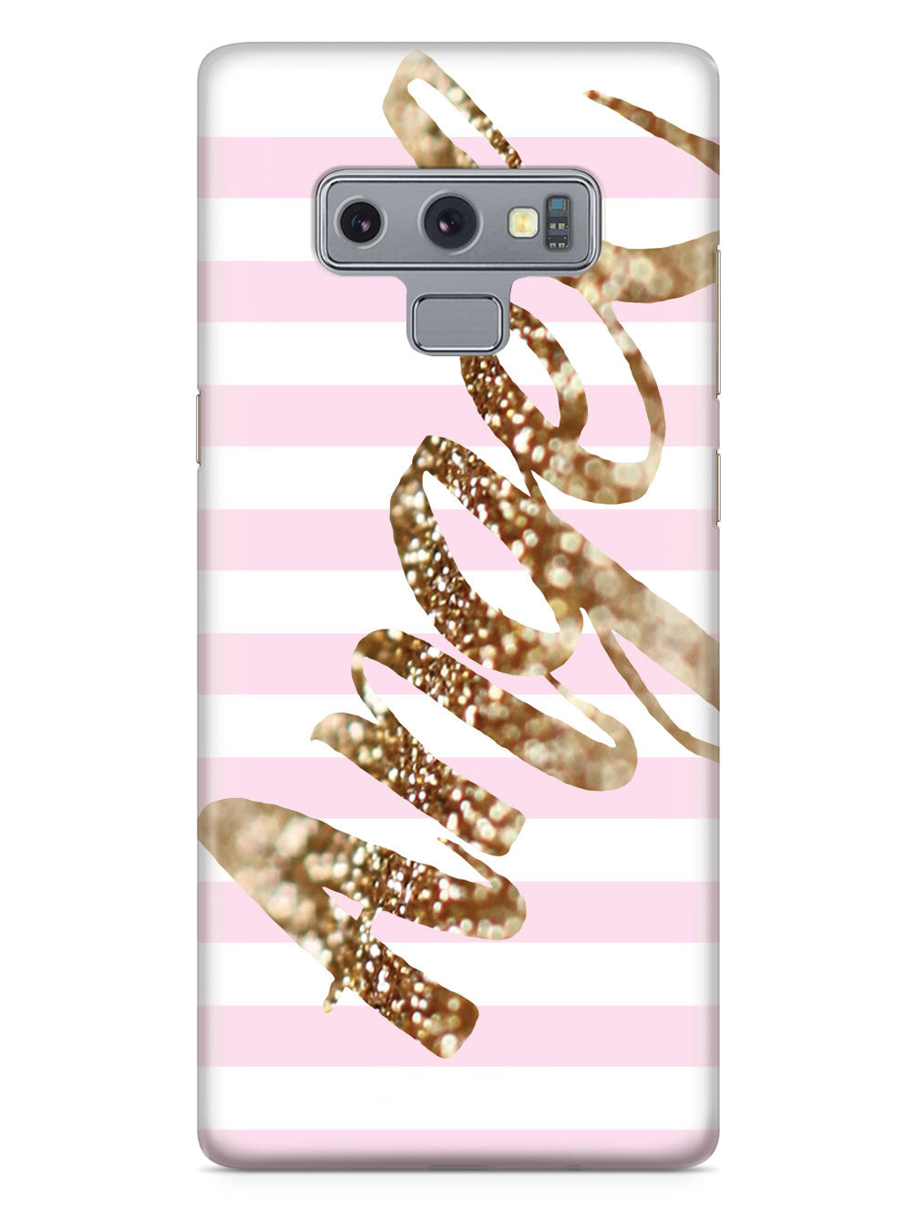 Glitter Angel Pink & White Background Case