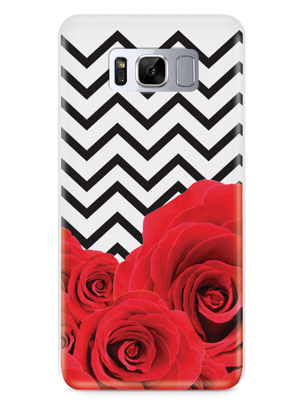 Chevron Pattern & Roses Case