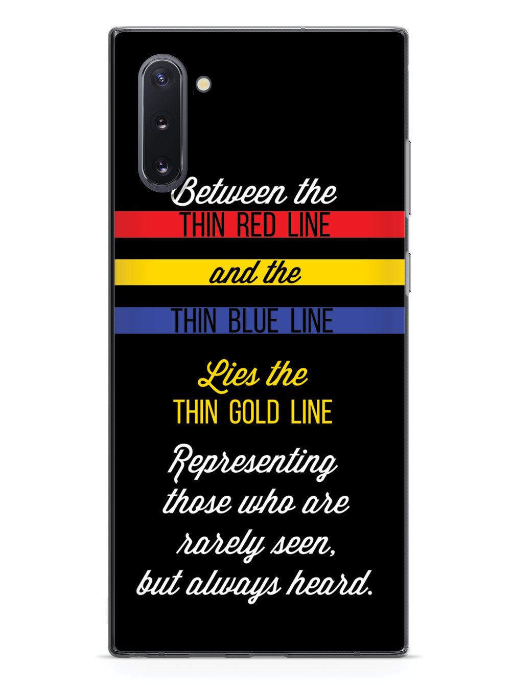 Between Red and Blue Lies Gold - 911 Dispatch Case
