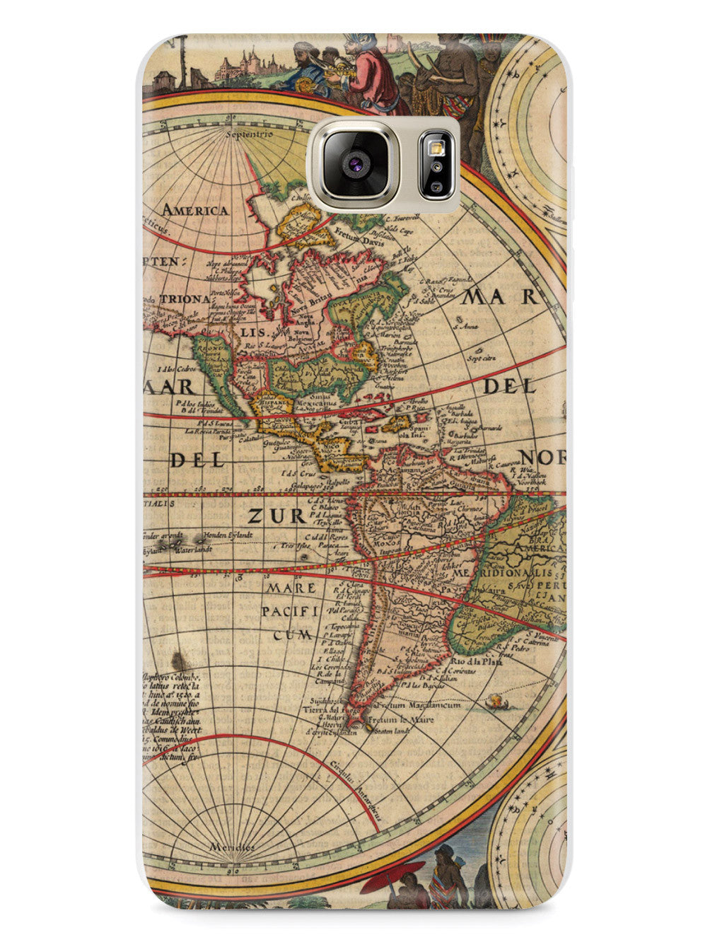 Vintage World Map - Americas Case