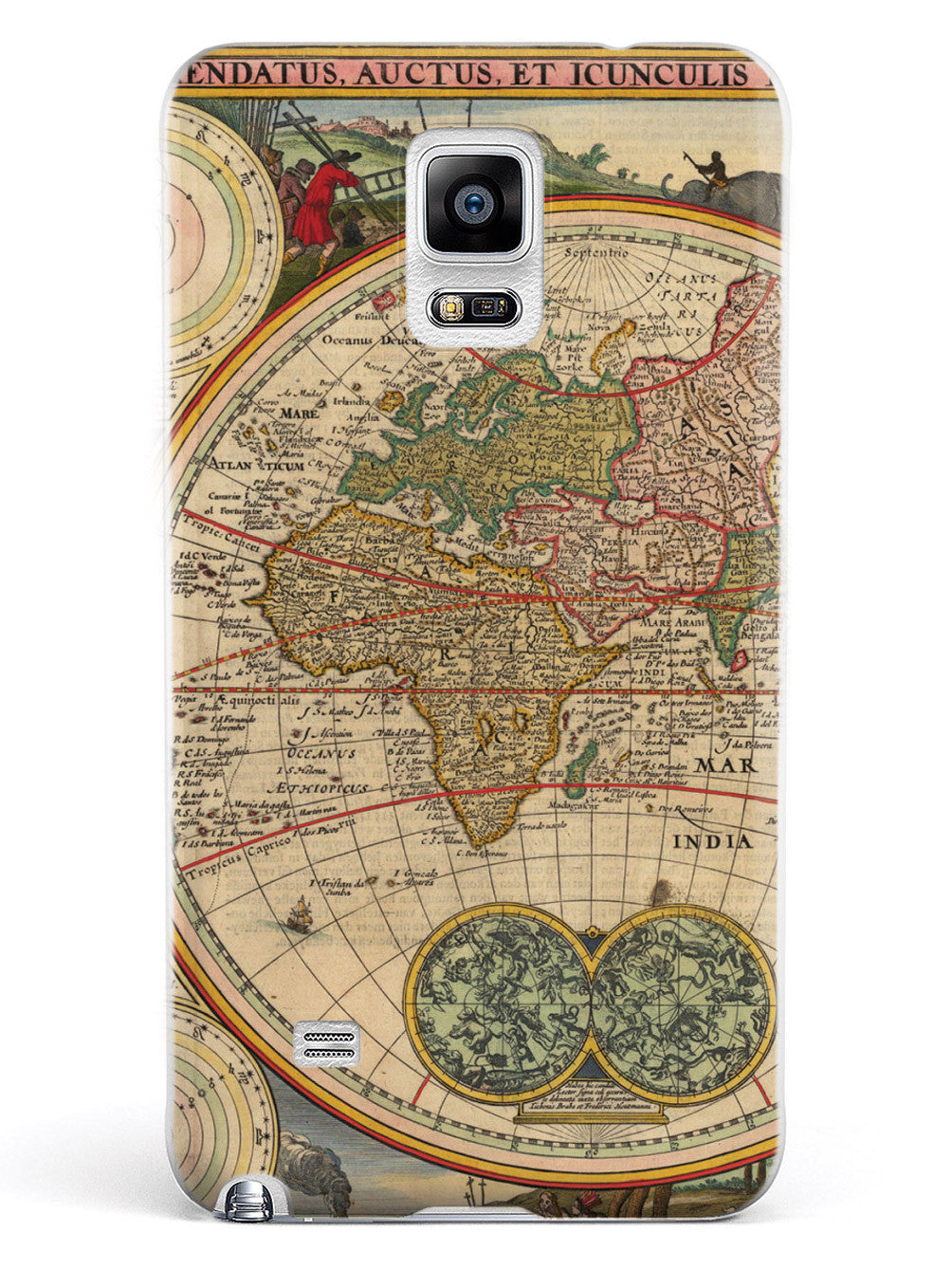 Vintage World Map - Europe, Africa Case