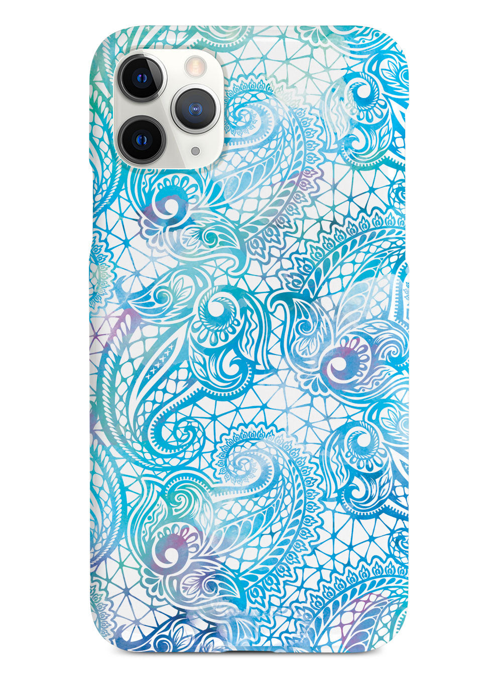 Teal Paisley Lace Case