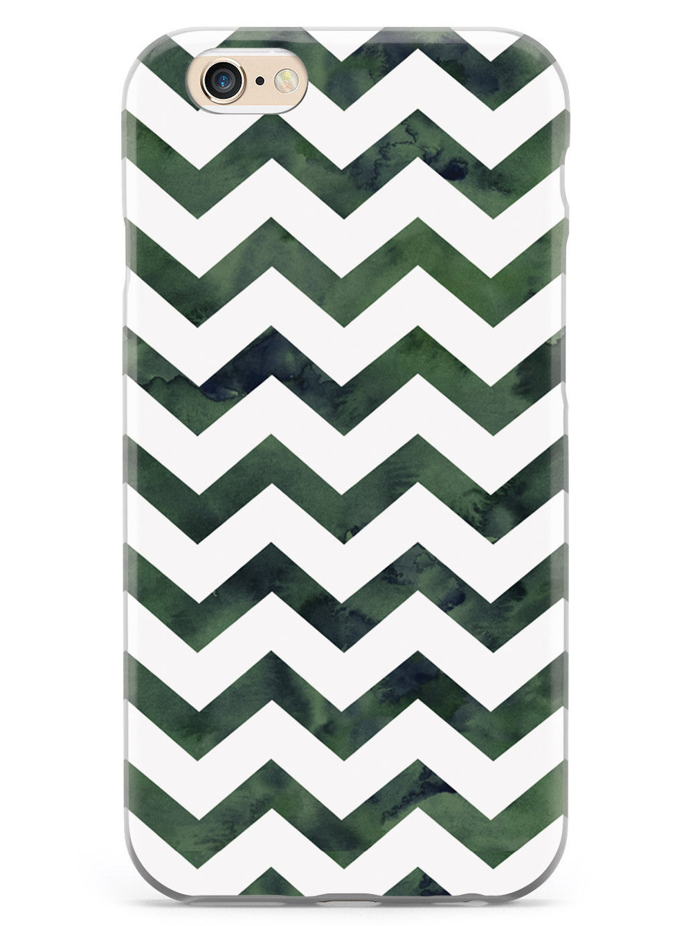 Watercolor Chevron Pattern - Forest Green Case