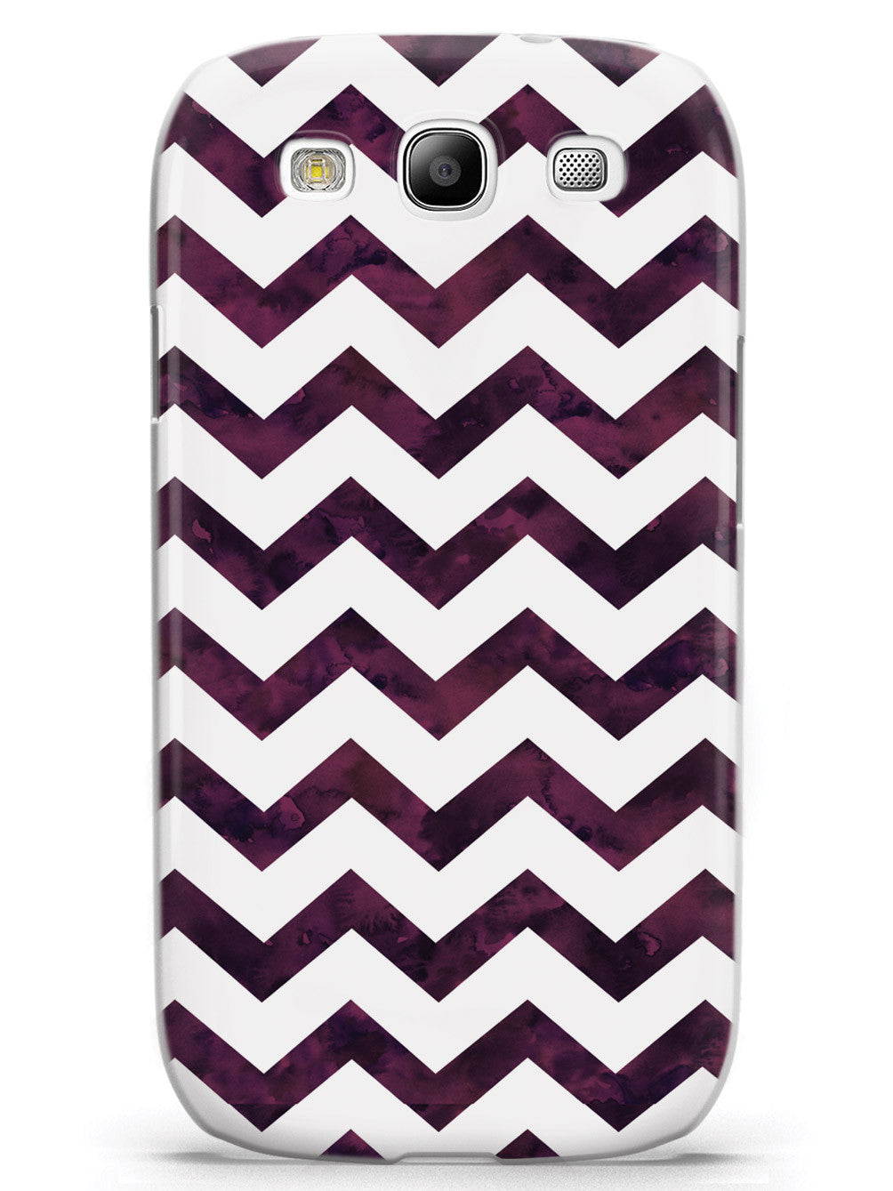 Watercolor Chevron Pattern - Plum Purple Case