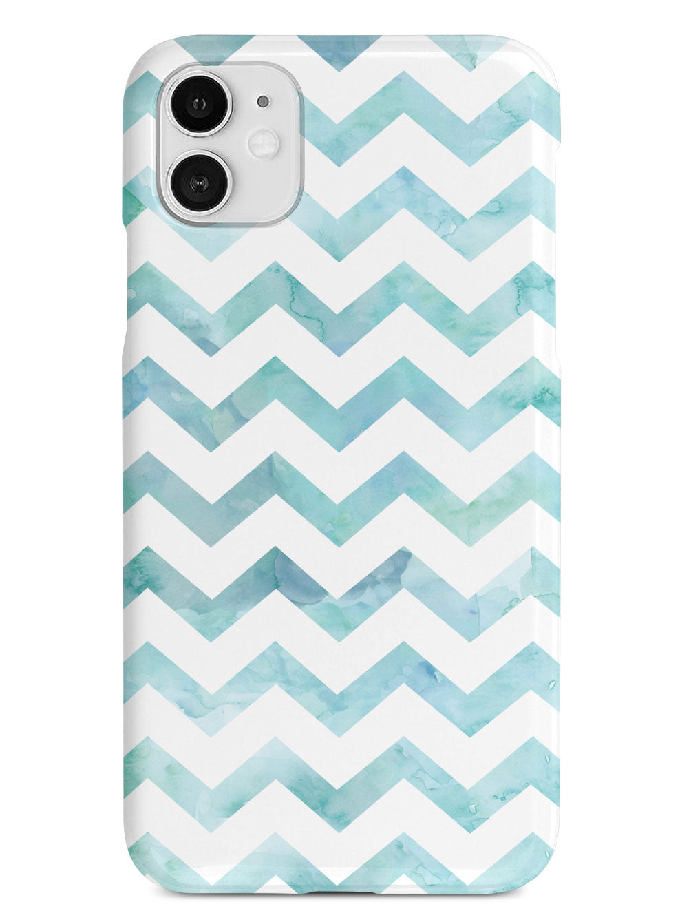 Watercolor Chevron Pattern - Light Blue Case