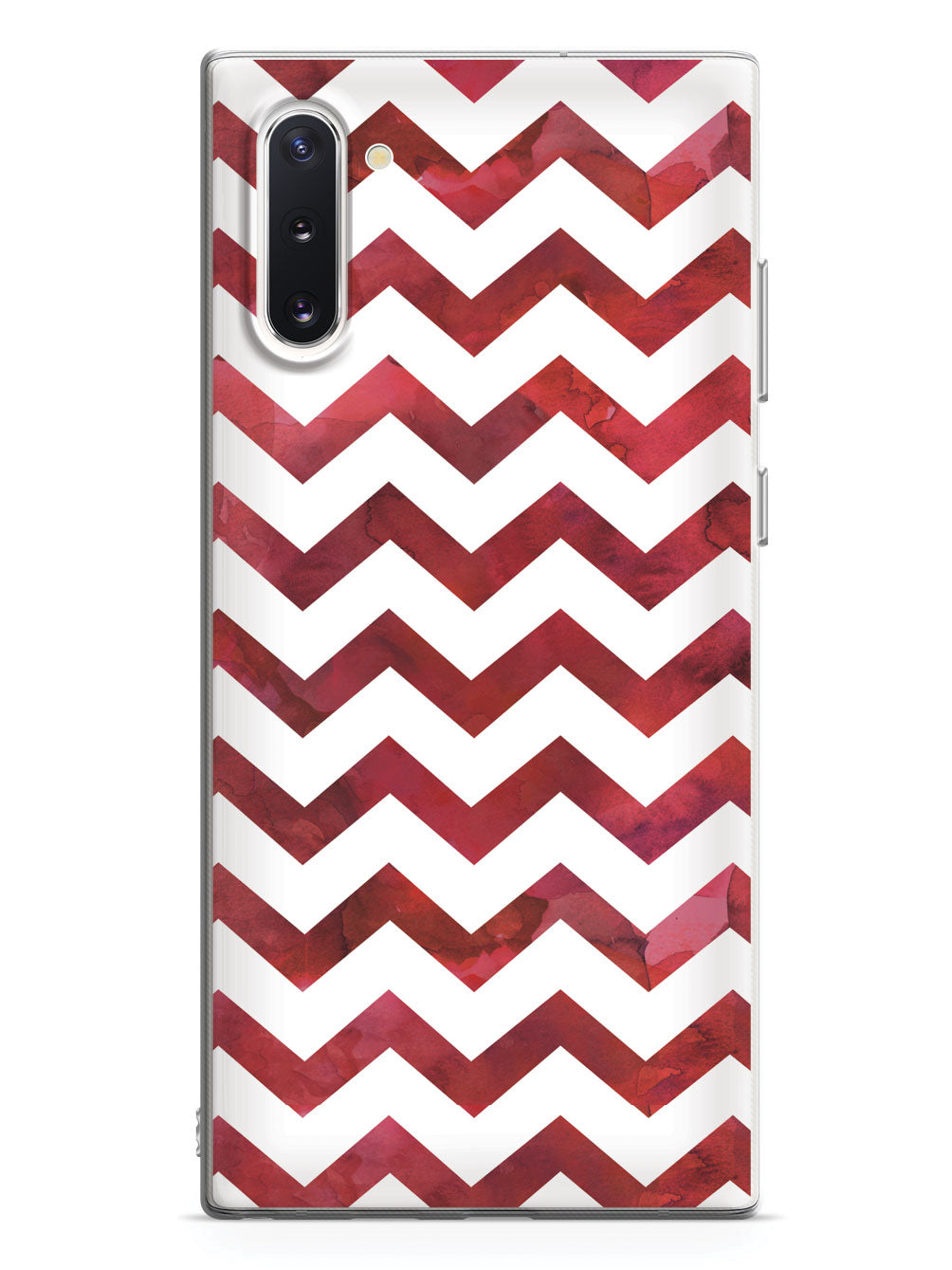 Watercolor Chevron Pattern - Red Case
