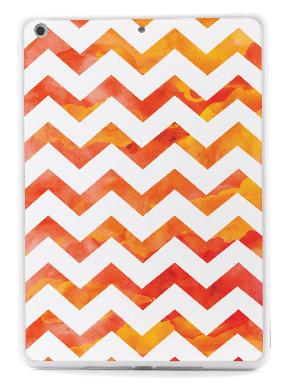 Watercolor Chevron Pattern - Orange Case